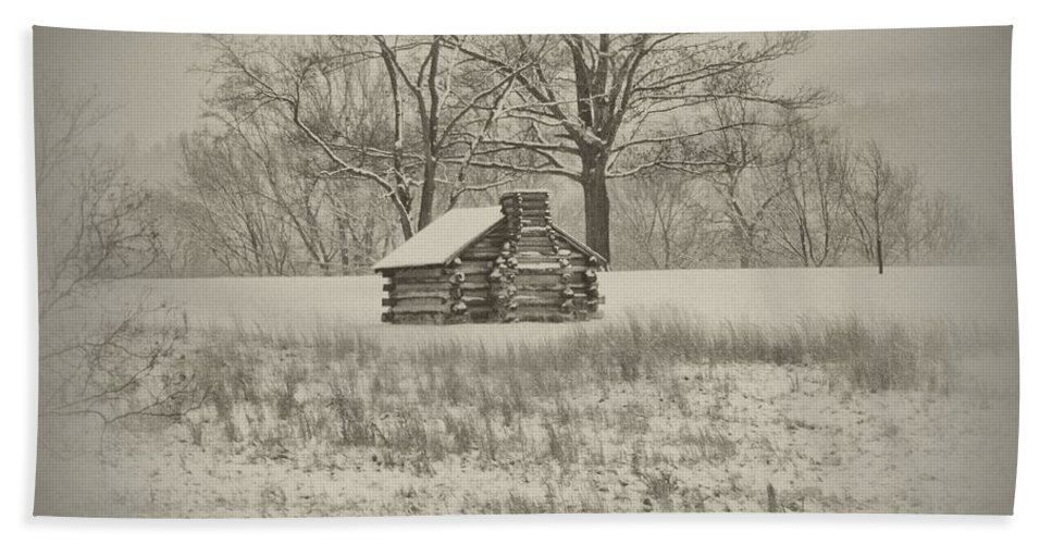 Winter Beach Towel featuring the photograph Winter At Valley Forge by Bill Cannon