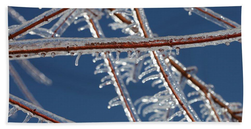 Winter Beach Sheet featuring the photograph Winter Blue by Nadine Rippelmeyer