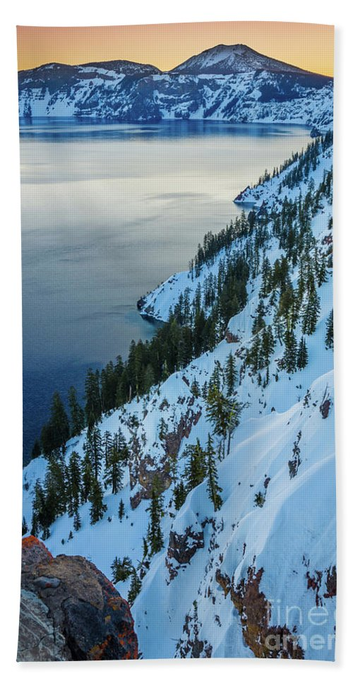 America Beach Towel featuring the photograph Winter Caldera by Inge Johnsson