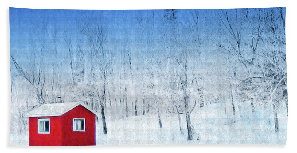 Winter Haven Beach Towel featuring the painting Winter Haven by Dominic Piperata