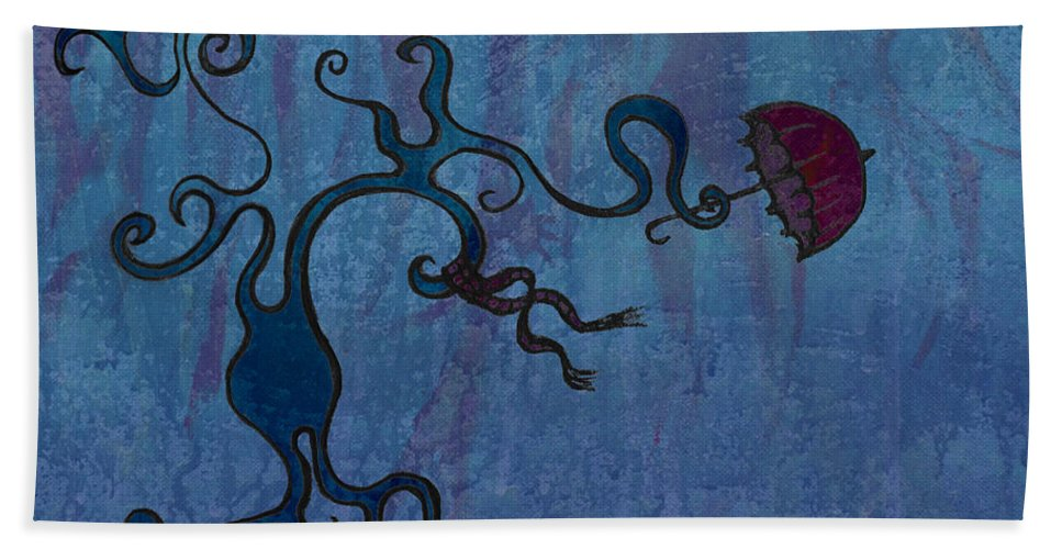 Tree Beach Towel featuring the digital art Winter by Kelly Jade King