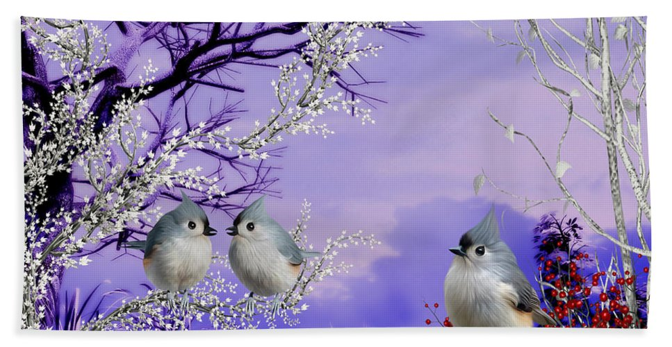 Charming Winter Morning Beach Towel featuring the digital art Charming winter morning by John Junek