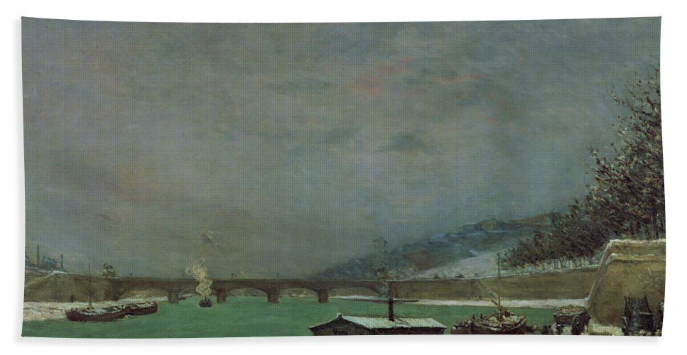 Cold Beach Towel featuring the painting Winter by Paul Gauguin