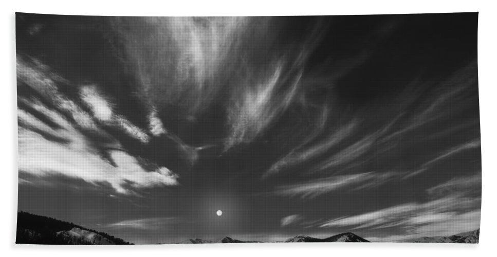 Winter Beach Towel featuring the photograph Winter Sky by Leland D Howard