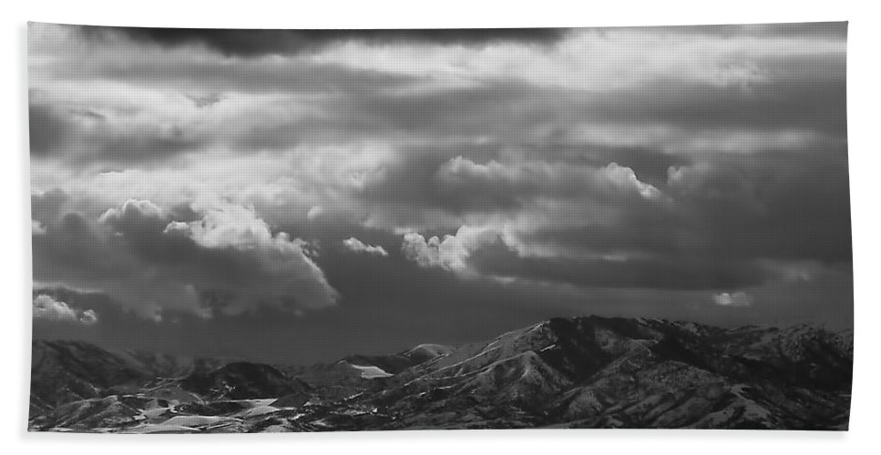 Salt Lake City Beach Towel featuring the photograph Winter Sky by Rona Black