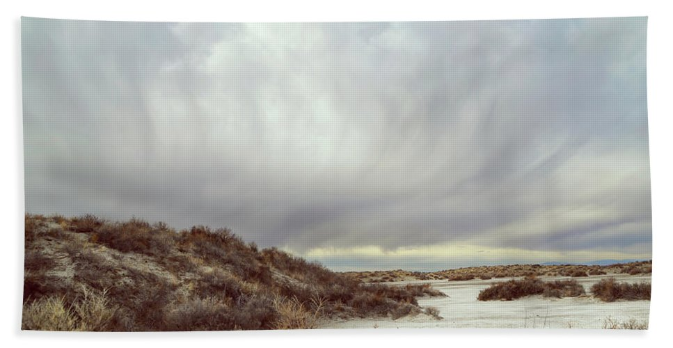Landscapes Beach Towel featuring the photograph Winter Storm Clouds 2018-2289 by Karen W Meyer