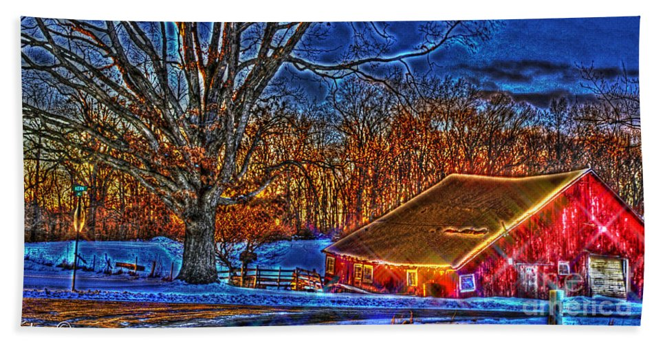 Country Beach Towel featuring the photograph Winter Wonderland Hdr by September Stone