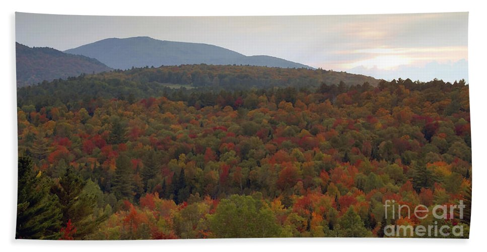 Fall Beach Towel featuring the photograph Winters Approach by David Lee Thompson