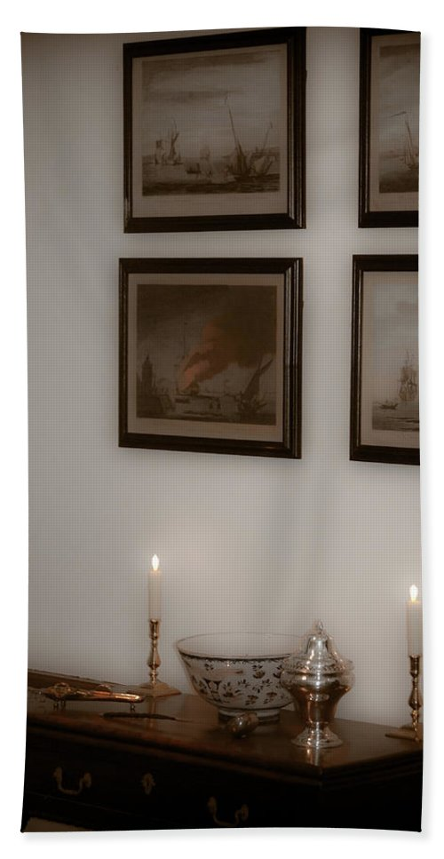 Portrait Beach Towel featuring the photograph Winterthur By Candlelight by Trish Tritz