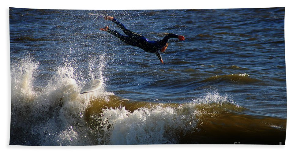 Clay Beach Sheet featuring the photograph Wipe Out by Clayton Bruster