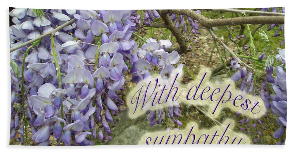 Wisteria Beach Towel featuring the photograph Wisteria Sympathy Card by Mother Nature