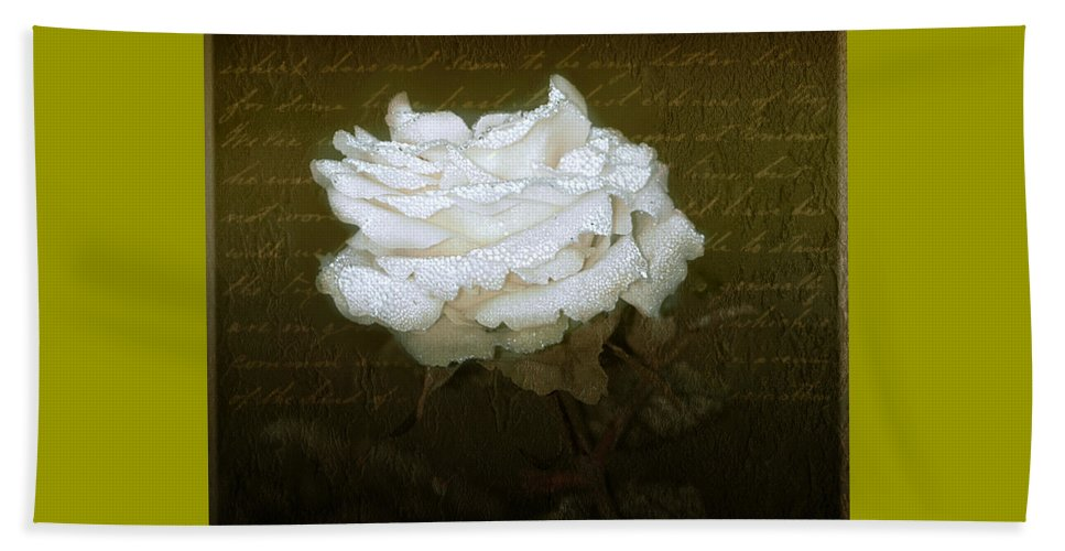 Floral Beach Towel featuring the photograph With Love by Holly Kempe