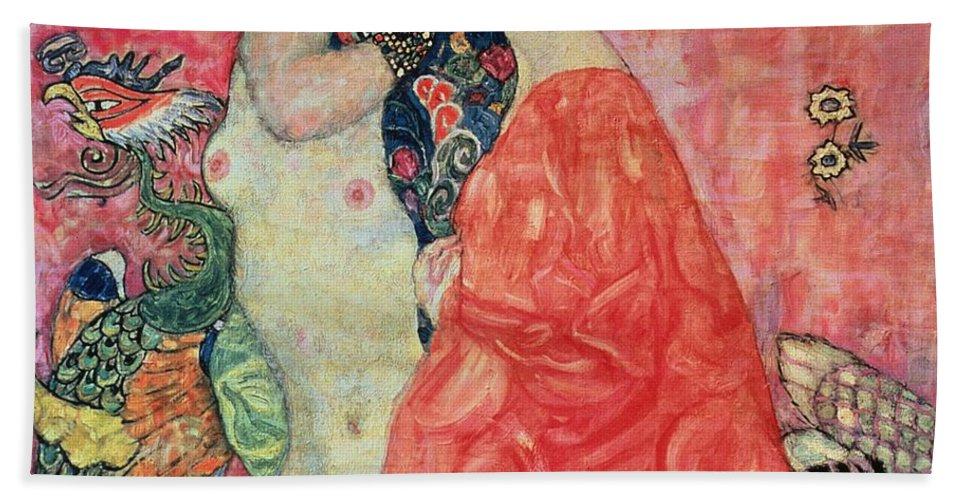 Women Beach Towel featuring the painting Women Friends by Gustav Klimt