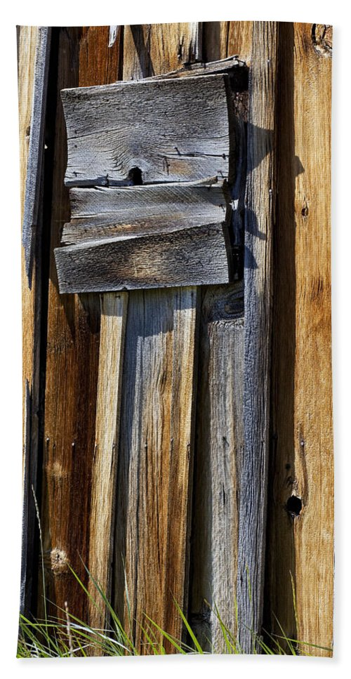 Wood Wall Beach Towel featuring the photograph Wood On Wood by Kelley King