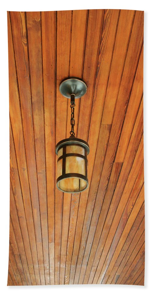Wood Beach Towel featuring the photograph Wooden Ceiling by Ric Bascobert