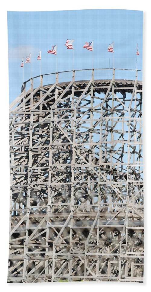 Pop Art Beach Towel featuring the photograph Wooden Coaster by Rob Hans