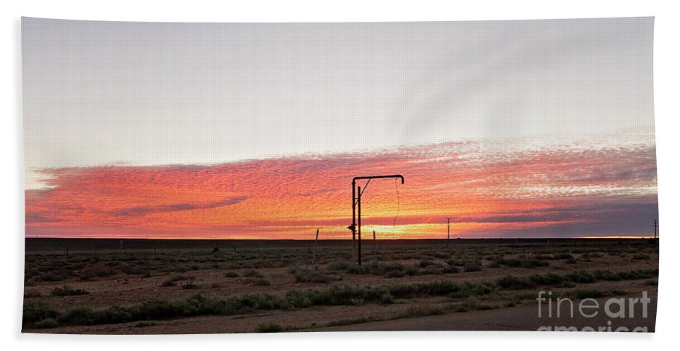 Woomera Beach Towel featuring the photograph Woomera Sunset by Linda Lees