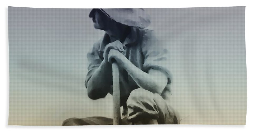 Philadelphia Beach Towel featuring the photograph Working Man by Bill Cannon