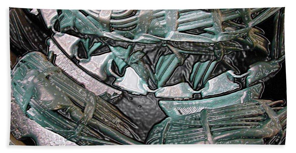 Digital Art Beach Sheet featuring the digital art Wound Tight by Ron Bissett