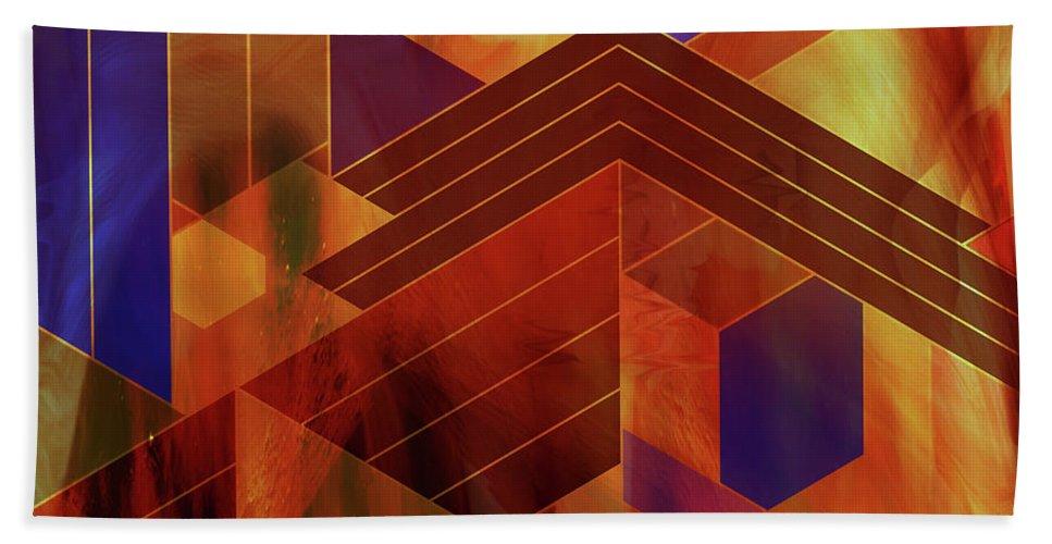 Frank Lloyd Wright Beach Towel featuring the digital art Wrightian Reflections - Square Version by John Robert Beck