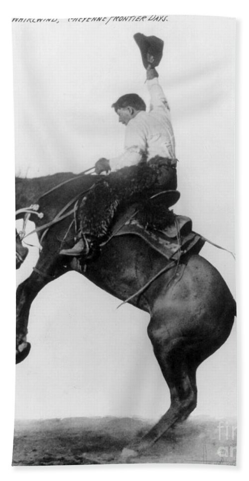 1911 Beach Towel featuring the photograph Wyoming: Cowboy, C1911 by Granger