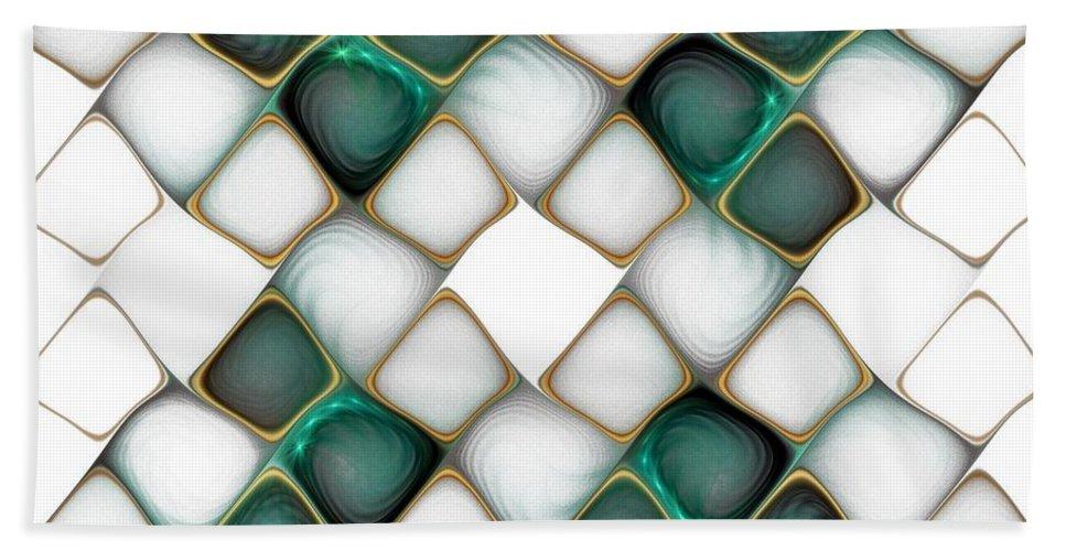 Digital Art Beach Towel featuring the digital art X Marks The Spot by Amanda Moore