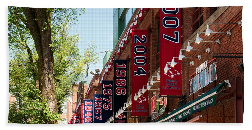 boston Red Sox Beach Towel featuring the Yawkee Way by Paul Mangold