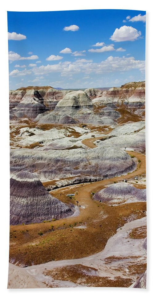 Painted Desert Beach Sheet featuring the photograph Yea Though I Walk by Skip Hunt