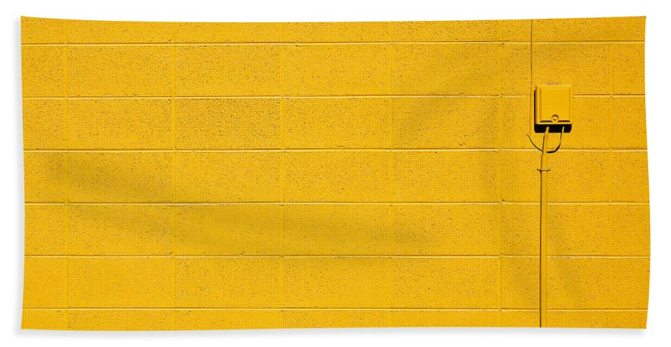 Yellow Beach Towel featuring the photograph Yellow Brick Wall by Todd Klassy