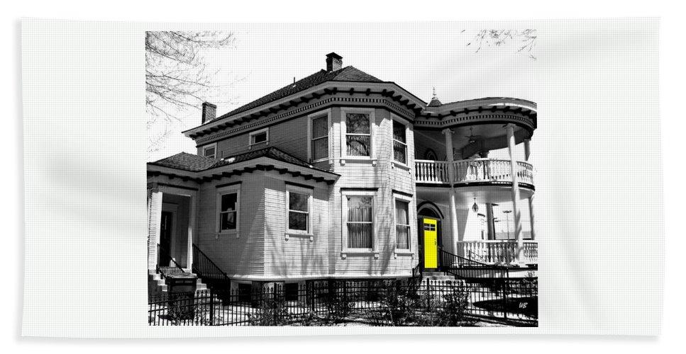 House Beach Towel featuring the digital art Yellow Door by Will Borden