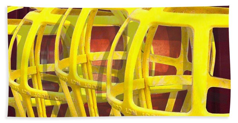Digital Art Beach Sheet featuring the digital art Yellow Guard by Ron Bissett