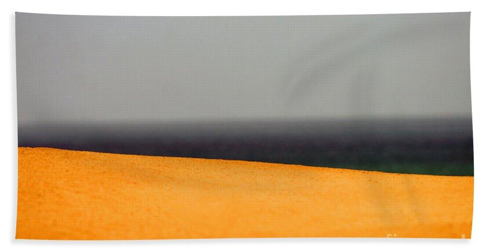 Yellow Beach Towel featuring the photograph Yellow Horizon by Hana Shalom