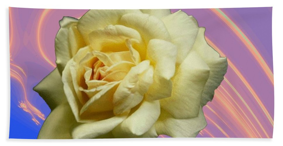 Rose Beach Towel featuring the photograph Yellow Rose 3 by Tim Allen