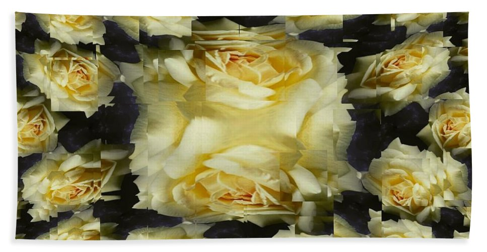 Rose Beach Towel featuring the photograph Yellow Roses 2 by Tim Allen