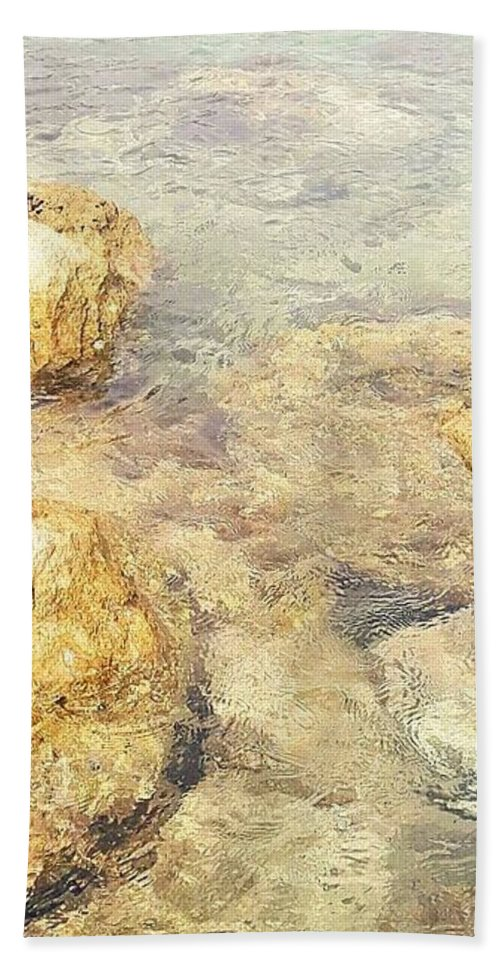 Landscape Beach Towel featuring the photograph Yellow Stone Of Livadh by Zaja V