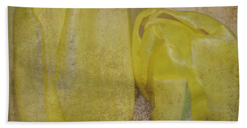 Yelow Beach Towel featuring the photograph Yellow Strands by Traci Cottingham