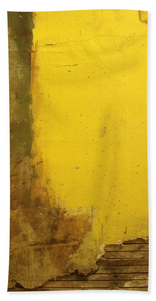 Yellow Beach Towel featuring the photograph Yellow Wall by Tim Nyberg