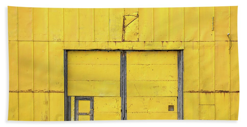Yellow Beach Towel featuring the photograph Yellow Wall by Todd Klassy