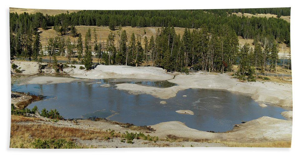 Yellowstone Beach Towel featuring the photograph Yellowstone Mineral Ponds by Michael Peychich