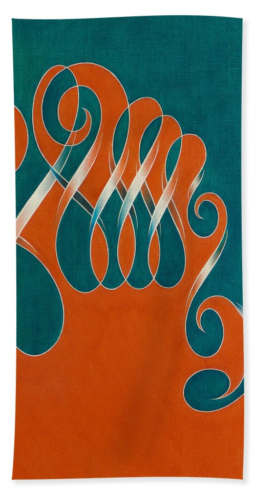 Beach Towel featuring the painting Yin And Yang, No. 3 by Mark Lewis