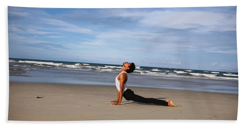 Beach Towel featuring the photograph Yoga by Amit Namdev