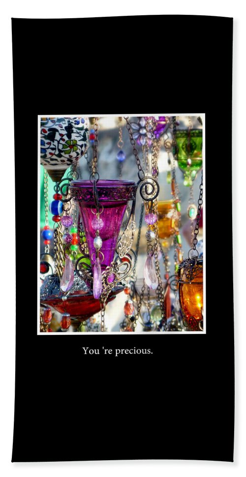 Friend Beach Towel featuring the photograph You Are Precious by Gwendolyn Van Kogelenberg