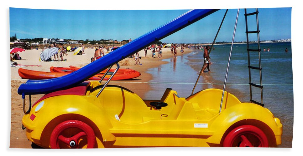 Noddy Car Beach Towel featuring the photograph You Are What You Drive by Charles Stuart