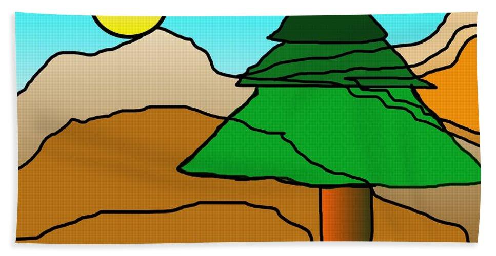 Digital Art Beach Towel featuring the digital art You Dared Me by David Lane