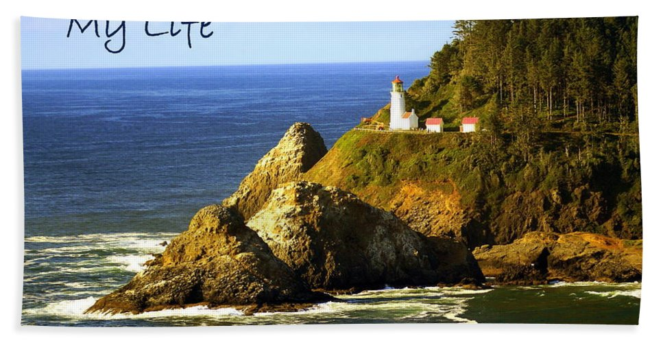 Photo Greeting Card Beach Towel featuring the greeting card You Light Up My Life 1 by Marty Koch
