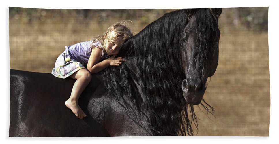Young Rider Beach Towel featuring the photograph Young Rider by Wes and Dotty Weber