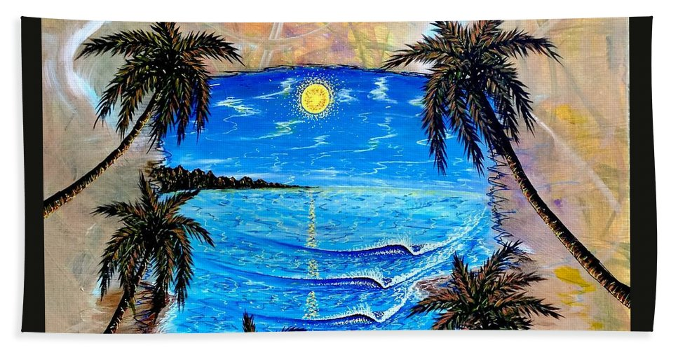 Tropical Beach Towel featuring the painting Your Vision by Paul Carter