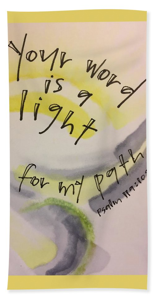 Light Beach Towel featuring the painting Your Word is a Light by Vonda Drees