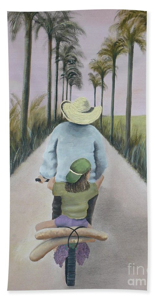 Tropical Beach Towel featuring the painting You're The Best by Kris Crollard