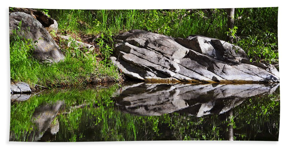 Skip Hunt Beach Towel featuring the photograph Zen Pool by Skip Hunt